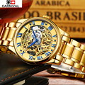 2016 New Gold Watches Luxury Classic Brand Men's Fashion Automatic Hollow Out Man Mechanical Watches Waches relogio masculino