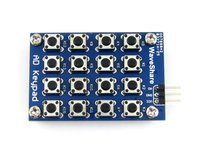 AD Keypad 16 Push Buttons 4x4 Accessory Board Matrix Buttons Controlled ADC AD Port Keyboard