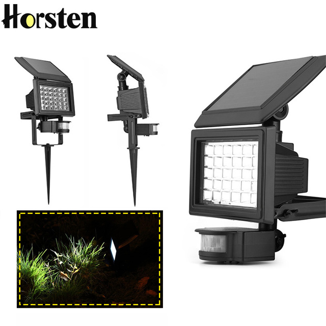 Horsten 30leds wall mounted pir motion sensor light solar horsten 30leds wall mounted pir motion sensor light solar multifunction flood light with ground spike outdoor aloadofball Gallery