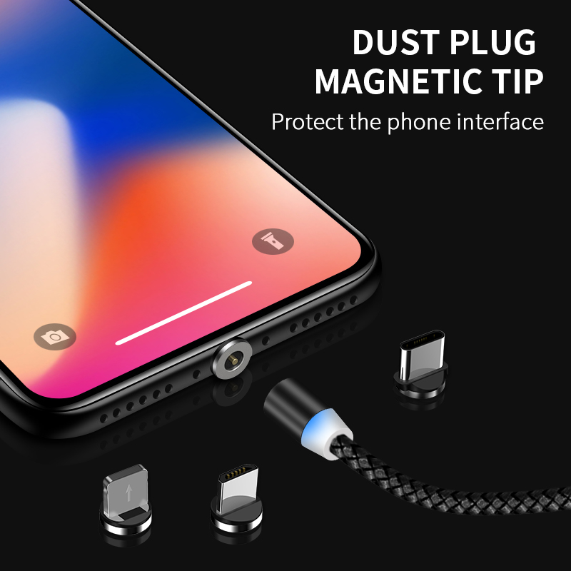 Image 3 - SUNPHG Magnetic Micro USB Charger Cable Type C Charging Wire for iPhone x xr oneplus 6t Samsung s9 Microusb Cord Mobile Phone-in Mobile Phone Cables from Cellphones & Telecommunications