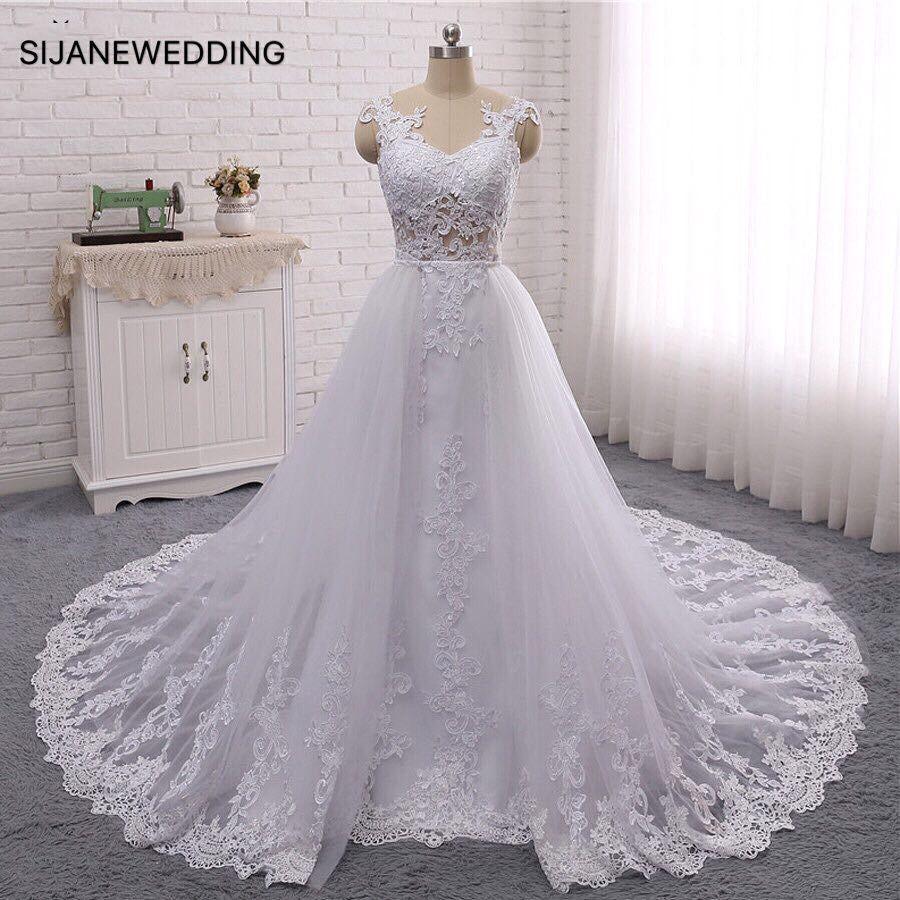 Wedding Dress Vestidos De Noiva sleeveless luxury real pictures Wedding Party dress 20190712
