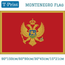 Free shipping Montenegro National Flag 90*150cm/60*90cm/15*21cm 3ft*5ft Day