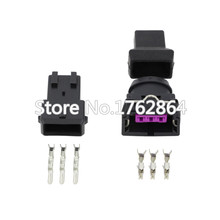 цены 5 Sets 3 Pin Female And Male Electrical Wire Connector For Bosch EV1 Auto Connectors DJ7031-3.5-11/21