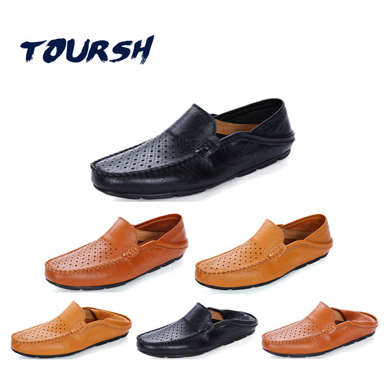Men/'s Breathable Mesh Shoes Summer Lace Up Leather Flats Fashion Driving Loafers