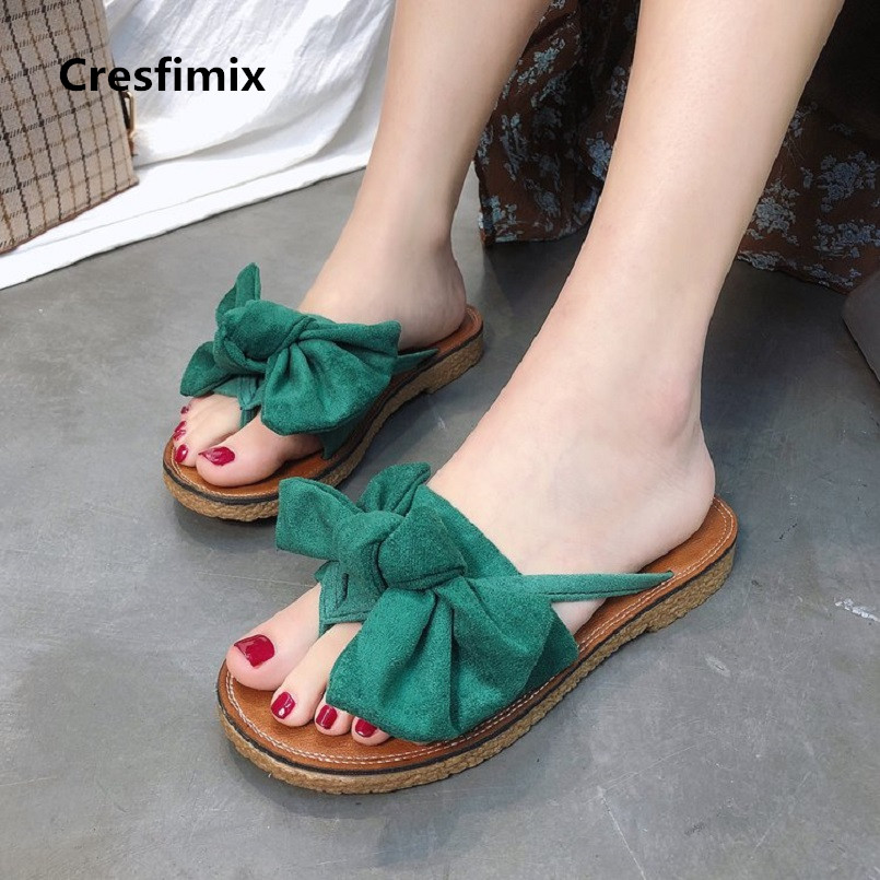 Cresfimix women fashion comfortable flat flip flops lady cute spring & summer flip flops female casual outside flip flops a2392 домашние костюмы flip перевод