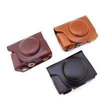Shoulder Strap Dust-proof PU Leather Digital Camera Bag Cover for Olympus SH1 SH2 Protective Case for Cameras