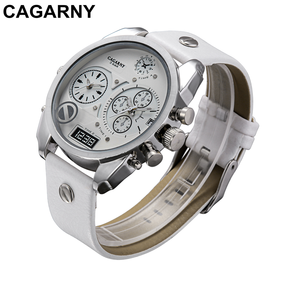 mens military watches army dual times large dial quartz watch for brave men male clock free shipping (3)