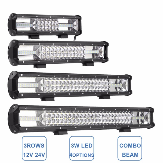 12 15 19 23 tri row led light bar offroad combo led work lamp truck 12 15 19 23 tri row led light bar offroad combo led work lamp aloadofball Images