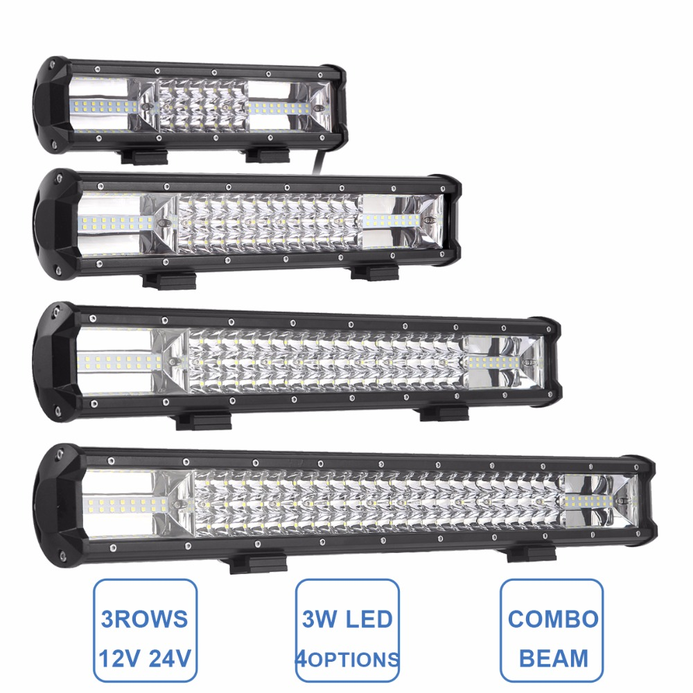 12 15 19 23 LED Light Bar Offroad Combo Work Lamp Truck SUV ATV 4x4 4WD Car Truck Wagon Boat Camping 12V 24V Driving Headlight