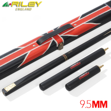 Original RILEY 3/4 Piece Snooker Cue with Case 2 Professional Extensions 9.5mm Tip Handmade Billiard Mark Selby
