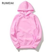 RUMEIAI otoño ropa de calle de los hombres mujer Hip Hop negro rosa con  capucha de marca de moda de Ropa Skate c27c251d63ba