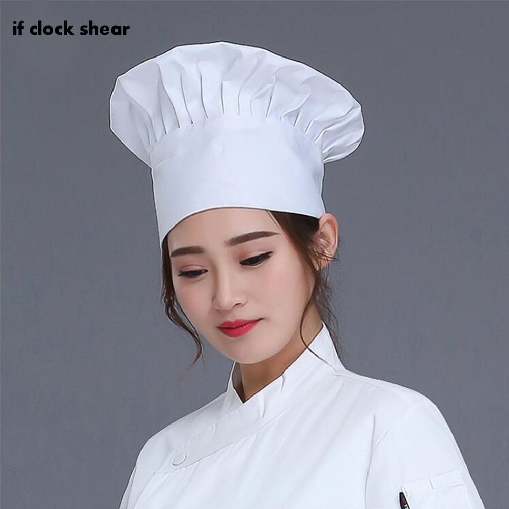 White Unisex Chef Hat Solid Sushi Chef Waiter Hats Adult Restaurant Hotel Bakery Canteen High Quality Wholesale Chef Fold Cap