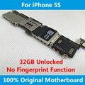 Для iPhone 5S Плате 100% Оригинал Разблокирована 32 ГБ Плата IOS Полный Чипсы Без Отпечатков Пальцев Датчик Плата логики