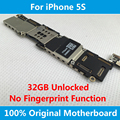 For iPhone 5S Motherboard 100% Original Unlocked 32GB Mainboard IOS Full Chips Without Fingerprint Sensor Logic Board