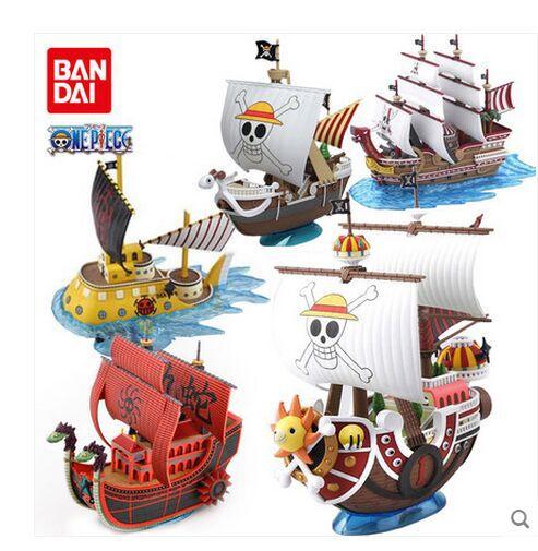 Оригинальная Слитная игрушка luffy Shanks Boa Hancock красная сила пират большой корабль тысяча солнышко Веселая сборка своими руками игрушка модель