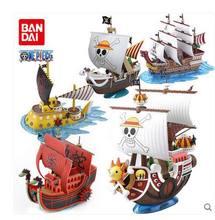 Original de uma peça luffy shanks boa hancock vermelho força pirata grande navio mil ensolarado indo feliz diy montagem brinquedo modelo