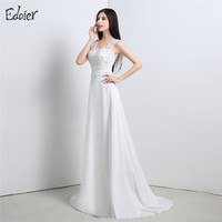 Sexy Boho Beach Wedding Dress Bohemian Lace Appliques Beaded Backless A Line Chiffon Bridal Gown Bride