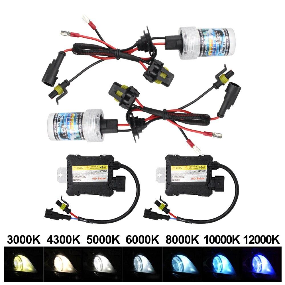 Работающего на постоянном токе 12 В в 35 Вт/55 Вт тонкий балласт Xenon HID ксеноновая лампа светильник H1 H3 H7 H11 9005 9006 3000K-12000K автомобильный ксеноновый...
