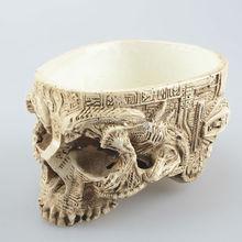 Garden Decorative Resin Finish Human Skull Planter Skeleton Container flower pot PO70202216(China (Mainland))