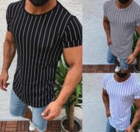 Fashion Men Slim Fit O Neck Short Sleeve Muscle Tee Shirts Casual T shirt Tops Blouse