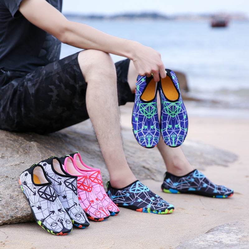 dd60b7383a25 EAGLE Woman Summer Water Shoes Men Slippers Sneaker Shoes for Swimming in  the sea Aqua Beach Shoes diving Plus Size Striped-in Upstream Shoes from  Sports ...