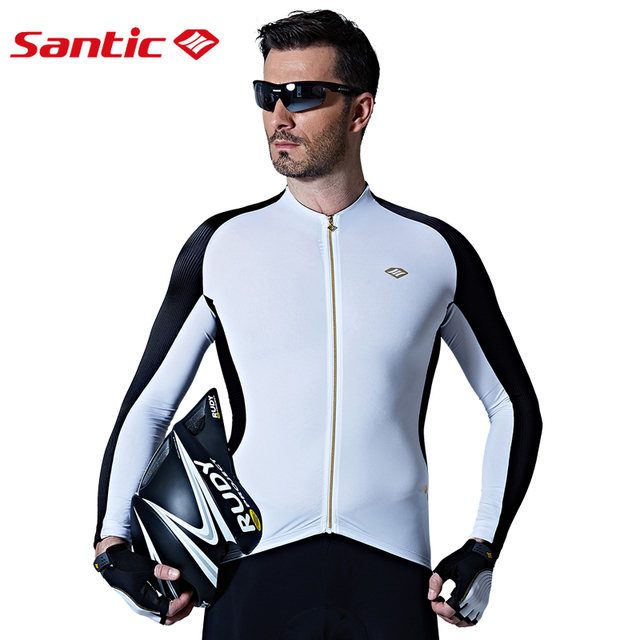 Santic Men Long Sleeve Cycling Jerseys Extreme Fit Anti-sweat Road Bike MTB Cycling  Jersey Cycling Clothings Asian S-XL M7C01076 8194f26c2