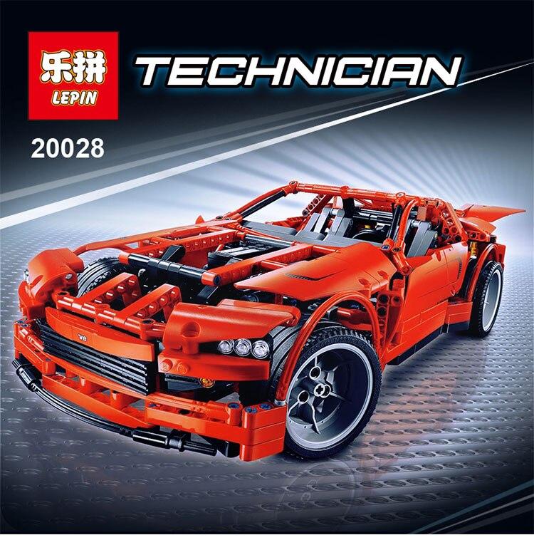 LEPIN 20028 Technic Series Super Car Assembly Toy Car Model Building Block 1281Pcs Bricks Compatible With LEPIN 8070 lepin 20005 2793pcs technic series model building block bricks compatible with boys toy gift compatible legoed 42023