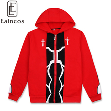 Eaincos Fate/stay night Emiya Shirou Cosplay Costume Jacket Red Thick Warm Hooded