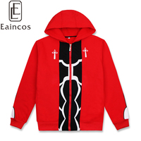 Fate/stay night Emiya Shirou Cosplay Costume Jacket Red Thick Warm Hooded Coat