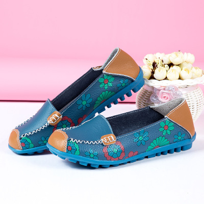 Solide Fleur Imprimer Tenis Mocassins 2018 Appartements Ballerines Femmes yellow Sneakers Mode Feminino Chaussures orange Black blue white Wg8czv