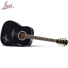 "High Quality SAYSN Classical Guitar 40"" 41"" Basswood 6 Strings Art Acoustic Guitarra Beginner Guitar"