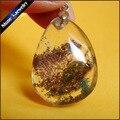 Direct Selling Natural Forma de La Gota Gema Verde Phantom Jardín Colgante de Cristal de Piedra Granos de la Joyería Para Las Mujeres 1 UNIDS IS755 Lodolite