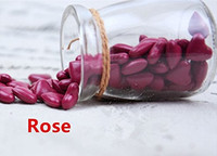 Vintage 90pcs Rose Heart Shape Bottled Glass for Wax Seal Sealing Stamp Wedding Invitations Adhesive Wax Sticks Beads