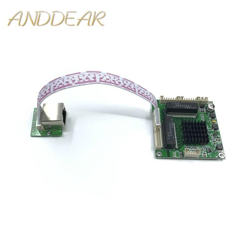 Промышленный сорт мини 3/4 порт модуль передачи гигабитный переключатель 10/100/1000 Мбит/с широкий температурный мини три четыре порта switchmodule-in Сетевые коммутаторы from Компьютер и офис