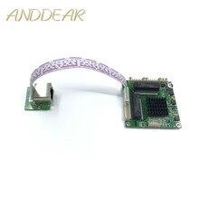 Módulo de Transferência de classe Industrial mini 3/4 port Gigabit switch 10/100/1000 Mbps de temperatura larga mini três quatro porta switchmodule