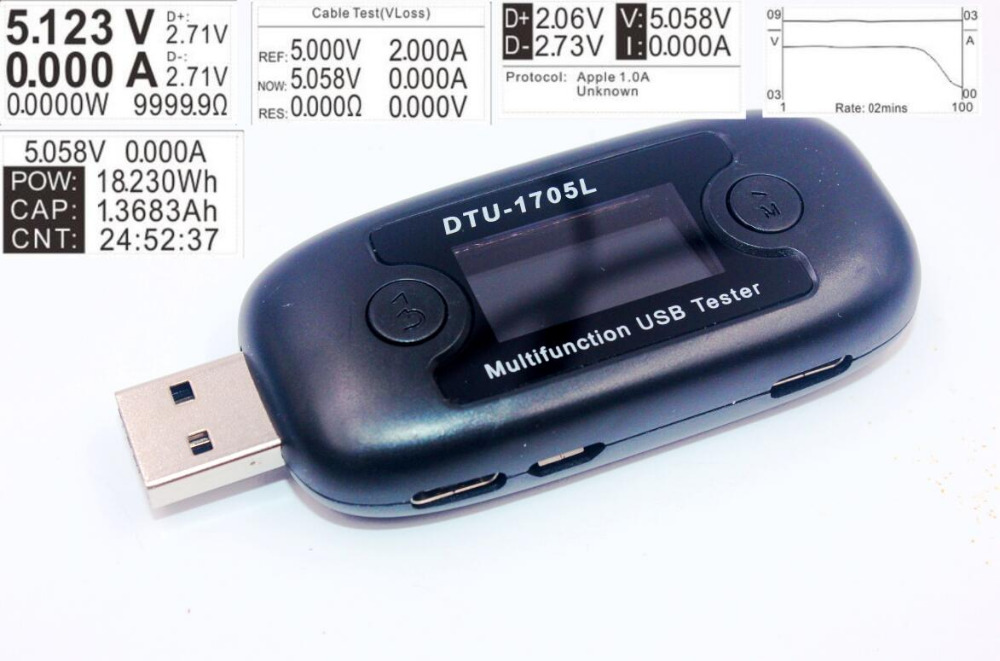 fast charge detection USB Tester voltage current