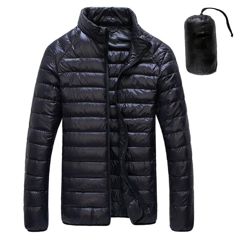 2019 Autumn Winter White Duck Downs Jacket Men Ultralight Portable Parkas Coat Casual Warm Windproof Jacket Male Outwear 5XL 6XL