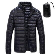 2020 jesień zima biała kaczka dół kurtki mężczyźni Ultralight przenośne parki płaszcz dorywczo ciepła kurtka wiatroszczelna męska odzież wierzchnia 5XL 6XL