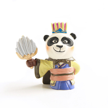 E-FOUR Traditional Style Car Ornament Panda Resin Paint Doll Three Kingdoms Artist Decoration Home Office Gift Styling Cars