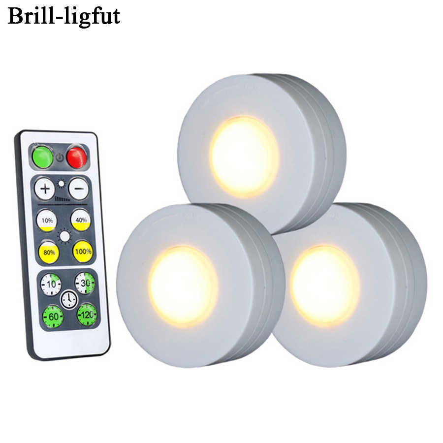 Dimmable Touch Sensor Under Cabinet Light LED Puck Lights Wireless Downlight Spotlights For Close Wardrobe Hallway Night lamp