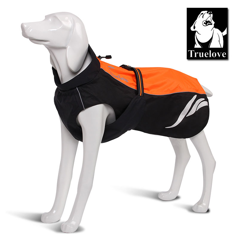 Truelove Wasserdichte Reflektierende Streifen Hundemantel Weste Outdoor Walking Dog Regenmantel Nylon Pet Jacke Für All Weather Breed auf lager