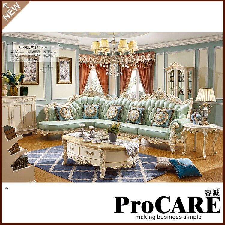 elegante sof de cuero verde de la venta caliente gran sof muebles muebles de diseo moderno conjunto de sofs sof de cuero v