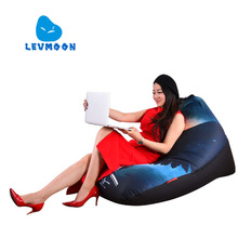 LEVMOON Beanbag Sofa Chair Dark Angel Seat Zac Comfort Bean Bag Bed Cover Without Filler Cotton