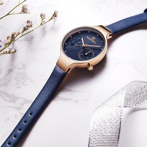 NAVIFORCE Women Watches Luxury Brand leather Ladies Quartz Women Watches 2019 Sport Relogio Feminino Montre Femme Wrist Watch Multan