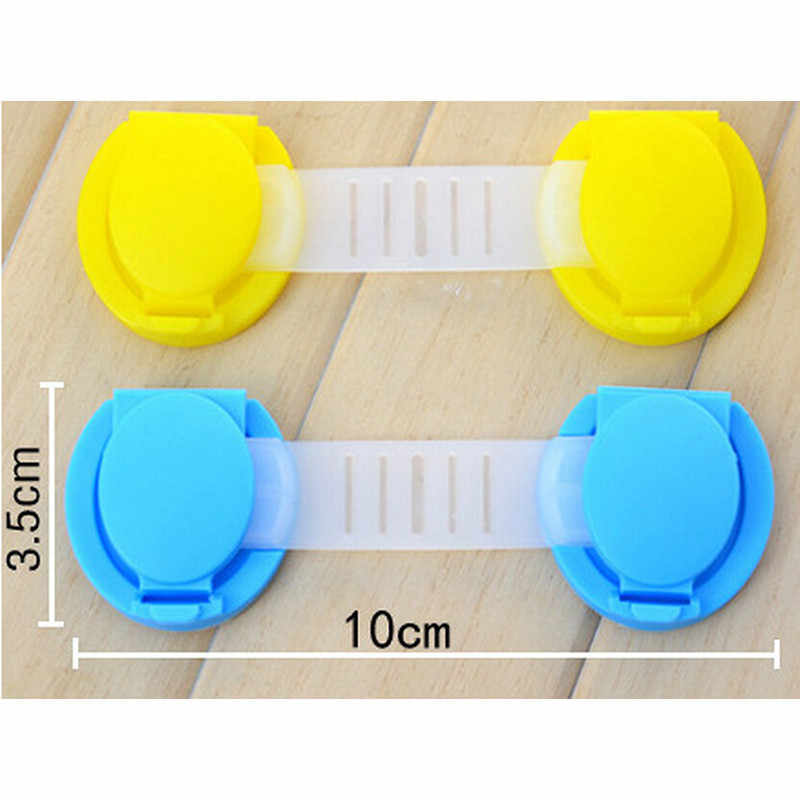 1 PCS Safety Plastic Children Protection Lock Cabinet Door Drawers Refrigerator Toilet Blockers Kids Baby Care Safety Lock Strap