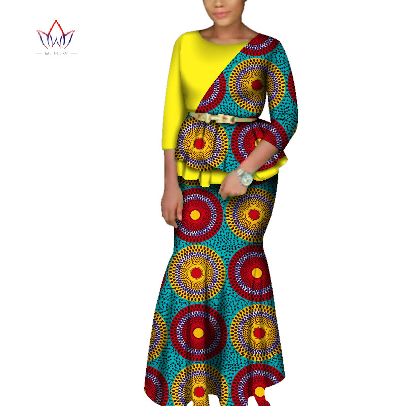 2019African Dresses For Women Dashiki African Dresses For Women Wrist  Sleeve Ankle-Len  Dress Women African Clothing BRW WY3713