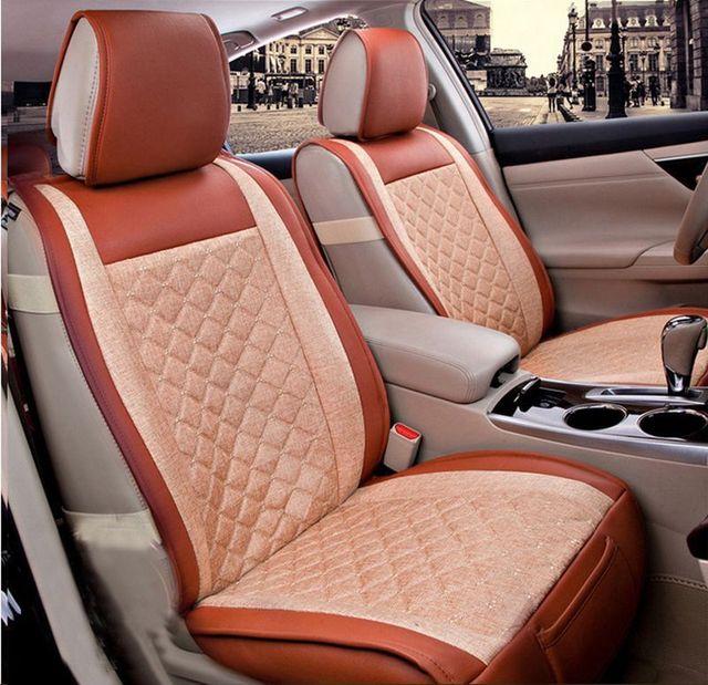 Moonet 6 шт./компл. Высокое качество Универсальный Белье Чехол Автокресла Для Пяти Мест RAV4 120i A3 A5 Fiesta Tiguan Jetta
