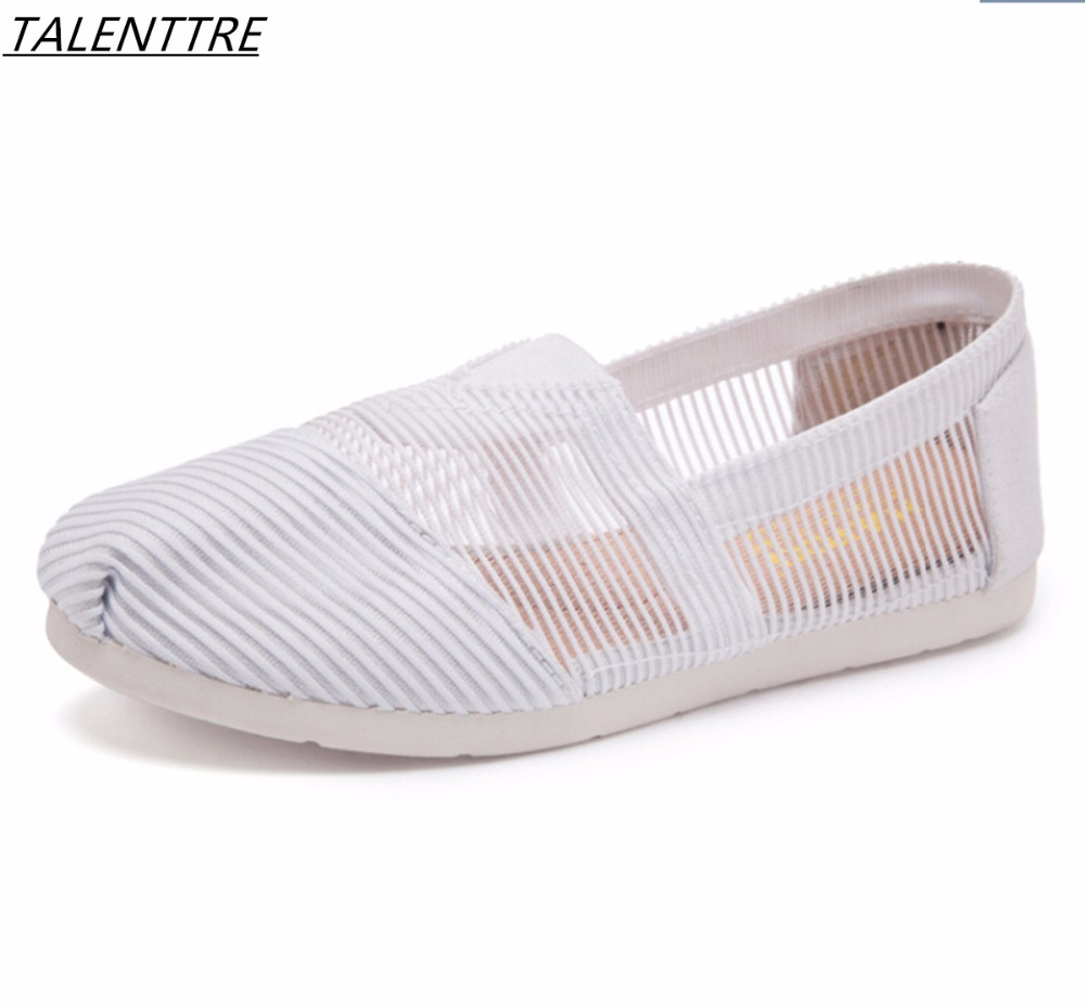 Cloth shoes female summer 2018 new breathable women flat shoes slip on Ballet flats fashion comfortable mesh femme loafers eiswelt women flats shoes comfortable flat air mesh spring summer shoes female casual fashion slip on shoes for women flats