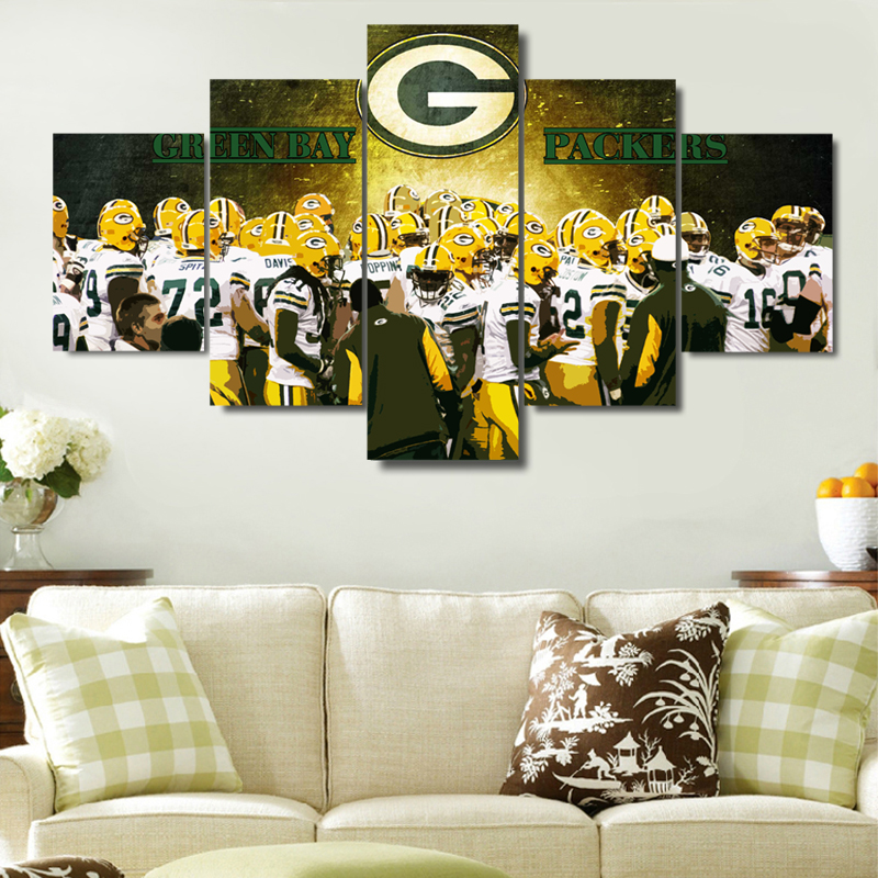 5 Pieces/Set Green Bay Packers Canvas Print U2013 Free Shipping Part 86