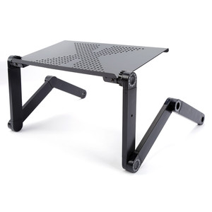 Image 5 - Portable adjustable laptop  table for foldable Laptop Desk Computer mesa para notebook Stand Tray For Sofa Bed Black